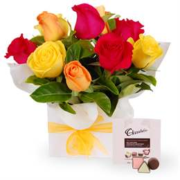 Boxed Roses and Chocolates